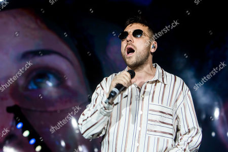 Stock Picture of Silvano Albanese in concert at Radio Deejay party
