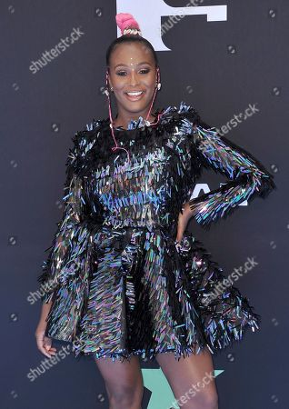 Florence Otedola arrives at the BET Awards, at the Microsoft Theater in Los Angeles