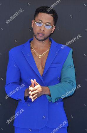 Jacob Latimore arrives at the BET Awards, at the Microsoft Theater in Los Angeles