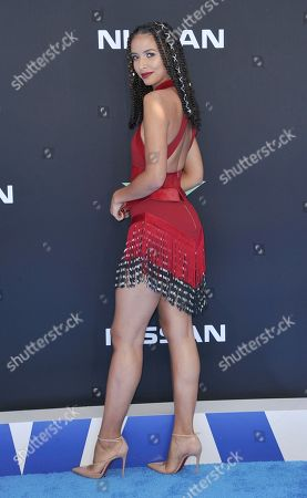 Flora Coquerel arrives at the BET Awards, at the Microsoft Theater in Los Angeles