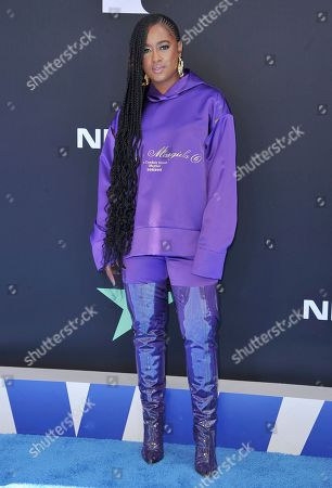 Rapsody arrives at the BET Awards, at the Microsoft Theater in Los Angeles