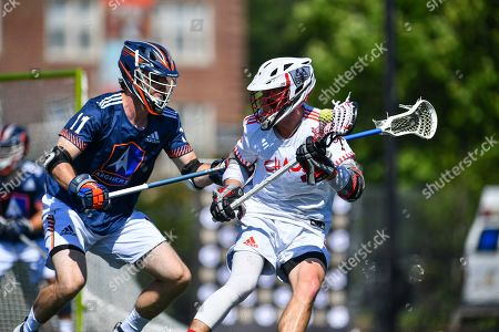 Archers' Matt McMahon defends against Chaos' Connor Fields during a Premier Lacrosse League game on in Baltimore