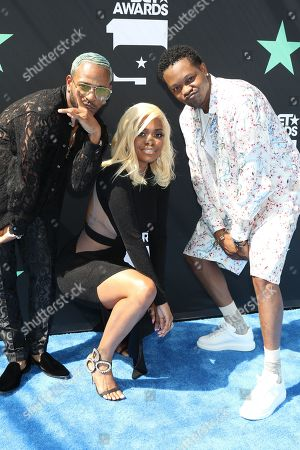Stock Picture of Eric Bellinger, Karen Civil and BJ The Chicago Kid