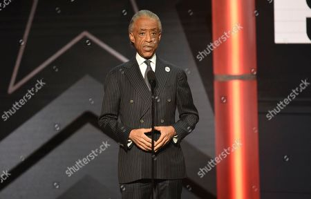 Reverend Al Sharpton presents the award for Dr. Dr. Bobby Jones best gospel/inspirational award at the BET Awards, at the Microsoft Theater in Los Angeles