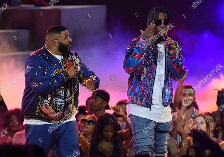 DJ Khaled, Jeremih. DJ Khaled, left, and Jeremih perform at the BET Awards, at the Microsoft Theater in Los Angeles