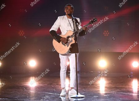 Stock Photo of Jonathan McReynolds performs at the BET Awards, at the Microsoft Theater in Los Angeles