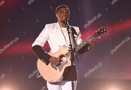 Stock Image of Jonathan McReynolds performs at the BET Awards, at the Microsoft Theater in Los Angeles