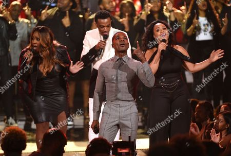 Kelly Price, Jonathan McReynolds, Kirk Franklin, Erica Atkins. Kelly Price, from left, Jonathan McReynolds, Kirk Franklin and Erica Atkins perform at the BET Awards, at the Microsoft Theater in Los Angeles
