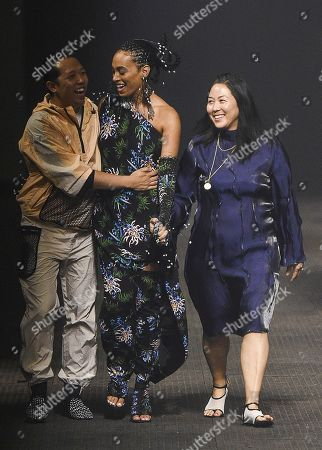 Stock Photo of Humberto Leon, Solange Knowles and Carol Lim on the catwalk