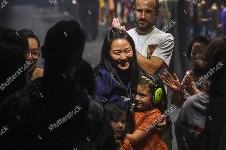 Carol Lim on the catwalk