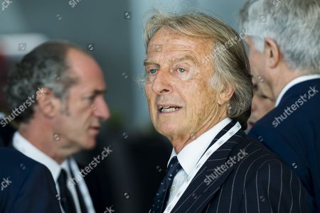Alitalia President Luca cordero di Montezemolo reacts during the first day of the 134th Session of the International Olympic Committee (IOC), at the SwissTech Convention Centre, in Lausanne, Switzerland, Monday, June 24, 2019. The host city of the 2026 Olympic Winter Games will be decided during the134th IOC Session. Stockholm-Are in Sweden and Milan-Cortina in Italy are the two candidate cities for the Olympic Winter Games 2026.