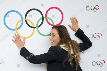 Italian skier Sofia Goggia smiles during the first day of the 134th Session of the International Olympic Committee (IOC), at the SwissTech Convention Centre, in Lausanne, Switzerland, 24 June 2019. The host city of the 2026 Olympic Winter Games will be decided during the134th IOC Session. Stockholm-Are in Sweden and Milan-Cortina in Italy are the two candidate cities for the Olympic Winter Games 2026.