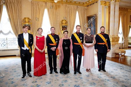 Prince Louis, Grand Duchess Stephanie of Luxembourg, Hereditary Grand Duke Guillaume of Luxembourg, Grand Duchess Maria Teresa of Luxembourg, Grand Duke Henri of Luxembourg, Princess Alexandra and Prince Sebastian