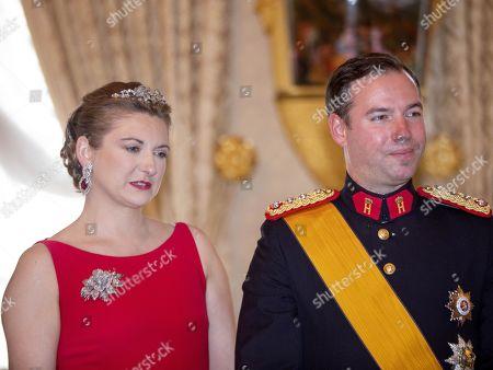 Hereditary Grand Duke Guillaume of Luxembourg and Grand Duchess Stephanie of Luxembourg