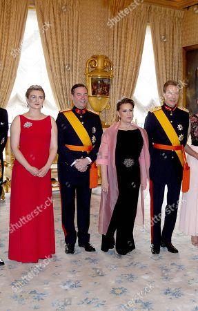 Grand Duke Henri of Luxembourg, Grand Duchess Maria Teresa of Luxembourg, Hereditary Grand Duke Guillaume of Luxembourg and Grand Duchess Stephanie of Luxembourg