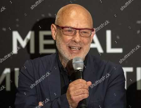 British musician and artist Brian Eno speaks during a panel discussion with Apollo astronauts during a press conference of the Starmus Festival in Zurich, Switzerland, 24 June 2019. The 2019 Starmus Festival celebrates mankind's first step on the Moon, coinciding with the 50th anniversary of this event in human history.