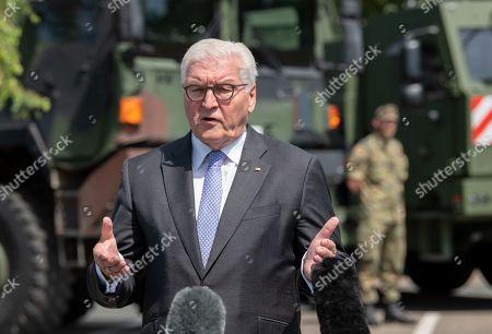 German President Steinmeier visits Joint Support and Enabling Service, Garlstedt