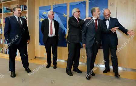 Editorial photo of Foremer presidebnt in visit at EU commission, Brussels, Belgium - 24 Jun 2019