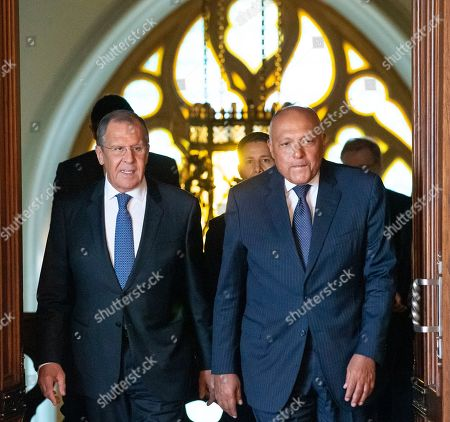 Egyptian Foreign Minister Sameh Shoukry visit to Russia
