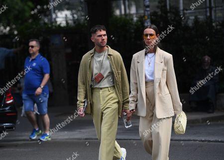 Jean-Sebastien Roques and Alice Barbier Street Style