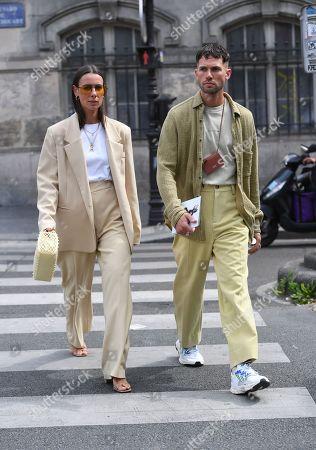 Alice Barbier and Jean-Sebastien Roques Street Style
