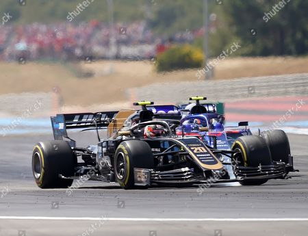 Stock Image of Kevin Magnussen, Rich Energy Haas F1 Team and Alexander Albon, Red Bull Toro Rosso Honda