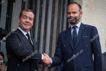 Russian Prime Minister Dmitry Medvedev visit to France