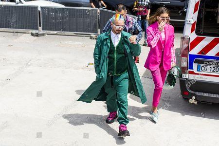J Balvin and Valentina Ferrer Street Style