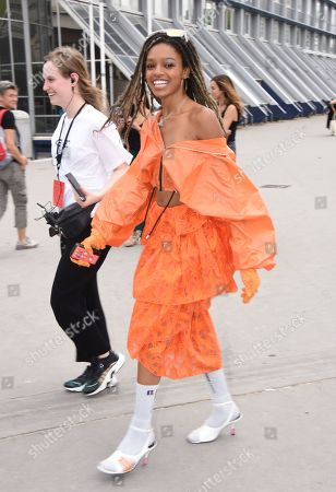 Editorial photo of Kenzo show, Arrivals, Spring Summer 2020, Paris Fashion Week Men's, France - 23 Jun 2019