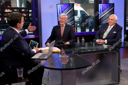 """Bernie Marcus, Ken Langone, Neil Cavuto. Home Depot co-founders Bernie Marcus, center, and Ken Langone, right, appear on """"Cavuto: Coast to Coast,"""" with anchor Neil Cavuto, on the Fox Business Network, in New York,. The home improvement store chain is celebrating the 40th anniversary of its founding"""