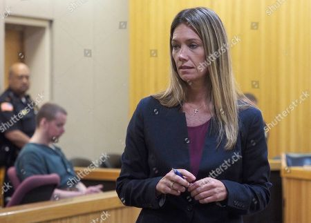 Monmouth County Assistant Prosecutor Meghan Doyle addresses the court during the sentencing of Liam McAtasney who was sentenced to life without parole for the murder of his childhood friend Sarah Stern. McAtasney appeared in Monmouth County Superior Court before Judge Richard W. English
