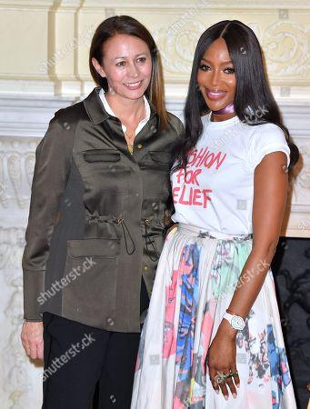 Caroline Rush and Naomi Campbell