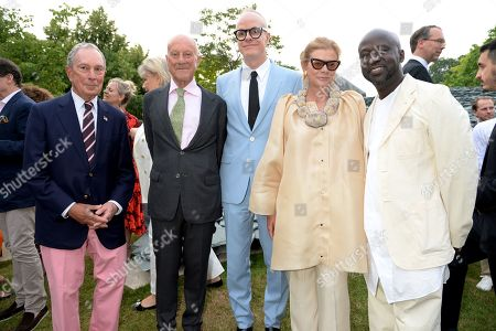 Stock Photo of Michael Bloomberg, Norman Foster, Hans-Ulrich Obrist, Elena Ochoa Foster and Sir David Adjaye