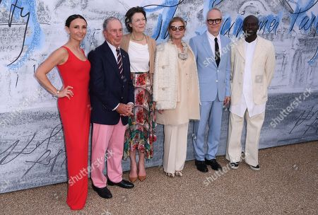 Stock Picture of Georgina Bloomberg, Michael Bloomberg, Diana Taylor, Elena Ochoa Foster, Hans-Ulrich Obrist and Sir David Adjaye