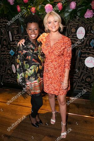 Yolanda Brown and Emily Atack