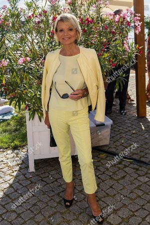 Uschi Glas poses for the media as she arrive for the charity summer party 'Ein Herz fuer Kinder' (A Heart for Children) in Berlin, Germany, 24 June 2019 (issued 25 June 2019). The organization collected donations for children's charity organizations in Germany and the whole world.