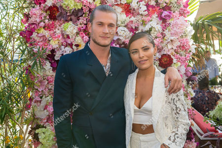 Sophia Thomalla (R) and Loris Karius arrive for the charity summer party 'Ein Herz fuer Kinder' (A Heart for Children) in Berlin, Germany, 24 June 2019. The organization collected donations for children's charity organizations in Germany and the whole world.