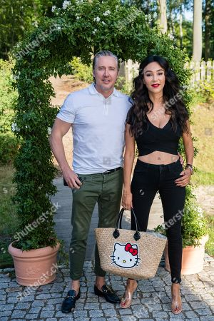 German business woman Verona Pooth (R) and her husband Franjo Pooth attend the charity summer party 'Ein Herz fuer Kinder' (A Heart for Children) in Berlin, Germany, 24 June 2019 (issued 25 June 2019). The organization collected donations for children's charity organizations in Germany and the whole world.