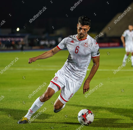Stock Image of Rami Bedoui of Tunisia during the African Cup of Nations match between Tunisia and Angola at the Suez Army stadium in Suez, Egypt