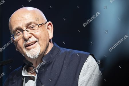 Stock Photo of Peter Gabriel speaks during the official opening of the Starmus Festival 'Once Upon a Time on the Moon' in Zurich, Switzerland, 24 June 2019. The 2019 Starmus Festival celebrates mankind's first step on the Moon, coinciding with the 50th anniversary of this event in human history.