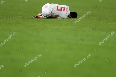 Naomichi Ueda of Japan reacts during the Copa America 2019 Group C soccer match between Ecuador and Japan, at Mineirao Stadium in Belo Horizonte, Brazil, 24 June 2019.