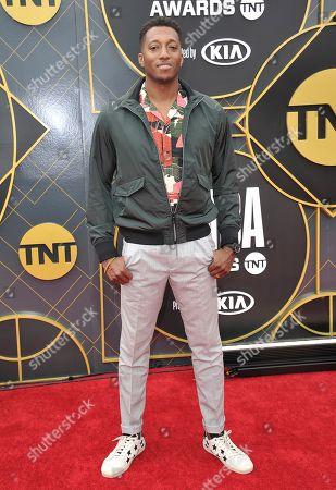 Lecrae arrives at the NBA Awards, at the Barker Hangar in Santa Monica, Calif