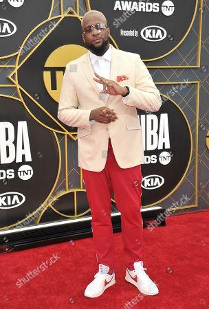 Lance Fresh arrives at the NBA Awards, at the Barker Hangar in Santa Monica, Calif