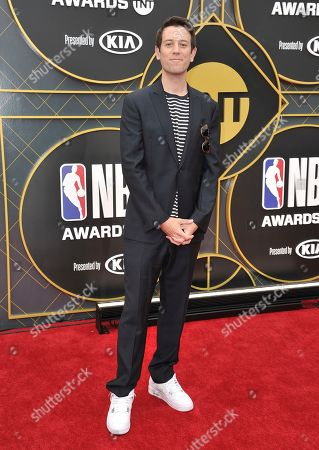 Stock Picture of Journalist Ben Lyons arrives at the NBA Awards, at the Barker Hangar in Santa Monica, Calif