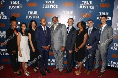 Sia Furler Sanneh, Bryan Stevenson (Exec. Dir; Equal Justice Initiative), Anthony Ray Hinton, Randy Susskind (Deputy Director; Equal Justice Initiative)