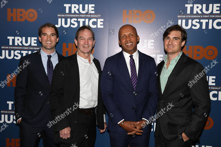 George Kunhardt (Co-Director, Prod), Peter Kunhardt (Co-Director, Exec. Prod), Bryan Stevenson (Exec. Dir; Equal Justice Initiative) and Teddy Kunhardt (Co-Director, Prod)