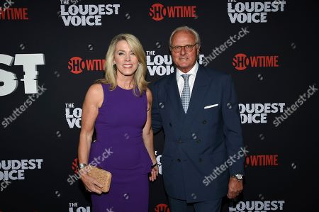 "Deborah Norville, Karl Wellner. Deborah Norville, left, and husband Karl Wellner attend the premiere of the ShowTime limited series ""The Loudest Voice"" at the Paris Theatre, in New York"