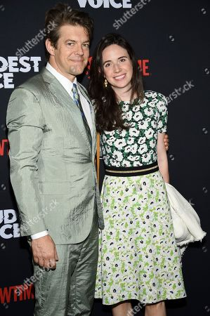 "Jason Blum, Lauren Schuker. Executive producer Jason Blum, left, and wife Lauren Schuker attend the premiere of the ShowTime limited series ""The Loudest Voice"" at the Paris Theatre, in New York"