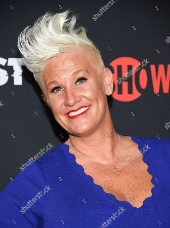 """Chef Anne Burrell attends the premiere of the ShowTime limited series """"The Loudest Voice"""" at the Paris Theatre, in New York"""
