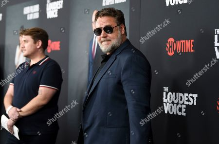 """Russell Crowe attends the premiere of the ShowTime limited series """"The Loudest Voice"""" at the Paris Theatre, in New York"""